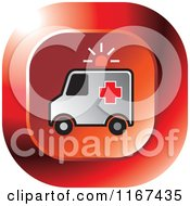 Clipart Of A Red Medical Ambulance Icon Royalty Free Vector Illustration by Lal Perera
