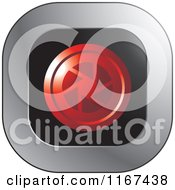Clipart Of A Red Aperture Icon Royalty Free Vector Illustration
