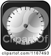Clipart Of A Concrete Cutting Machine Blade Icon Royalty Free Vector Illustration