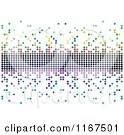 Clipart Of A Colorful Pixel Background Royalty Free Vector Illustration