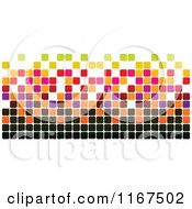 Clipart Of A Colorful Pixel Design Royalty Free Vector Illustration