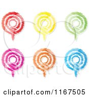 Clipart Of Colorful Scribble Podcast Pins Royalty Free Vector Illustration