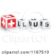 Clipart Of 3d Black And White PLUS Cubes Royalty Free Vector Illustration