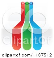 Clipart Of RGB Lines On 3d Steps Royalty Free Vector Illustration by Andrei Marincas