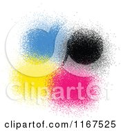 Clipart Of CMYK Sprays Royalty Free Vector Illustration by Andrei Marincas