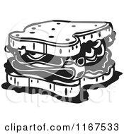 Black And White Retro Sandwich