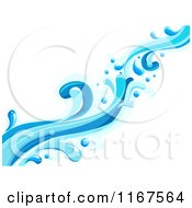 Cartoon Of A Blue Water Splash Design Element 3 Royalty Free Vector Clipart