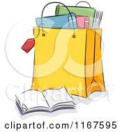 Shopping Bag Full Of Books