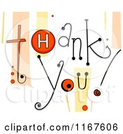 Cartoon Of Thank You Text With Retro Streaks And Buttons Royalty Free Vector Clipart by BNP Design Studio