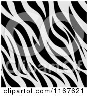 Cartoon Of A Seamless Zebra Stripes Animal Print Pattern Royalty Free Vector Clipart by BNP Design Studio