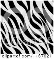 Cartoon of a Seamless Zebra Stripes Animal Print Pattern - Royalty Free Vector Clipart by BNP Design Studio