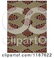 Cartoon Of A Seamless Snake Skin Animal Print Pattern Royalty Free Vector Clipart by BNP Design Studio