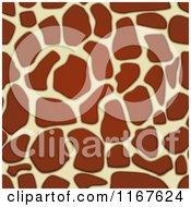 Cartoon Of A Seamless Giraffe Animal Print Pattern Royalty Free Vector Clipart