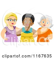 Group Of Diverse Middle Aged Female Friends