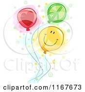 Cartoon Of Peace Love And Happiness Balloons Royalty Free Vector Clipart