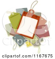 Cartoon Of A Pile Of Price Tags Royalty Free Vector Clipart