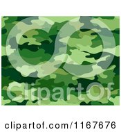 Cartoon Of A Seamless Green Camouflage Pattern Royalty Free Vector Clipart by BNP Design Studio