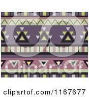 Zeamless Green And Purple Azetec Pattern