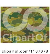 Cartoon Of A Seamless Green And Brown Camouflage Pattern Royalty Free Vector Clipart by BNP Design Studio