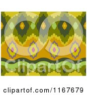 Cartoon Of A Seankess Ikat Print Pattern Royalty Free Vector Clipart by BNP Design Studio