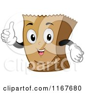 Cartoon Of A Thumb Up Brown Paper Bag Mascot Royalty Free Vector Clipart