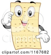 Cartoon Of A Happy Cracker Mascot Royalty Free Vector Clipart