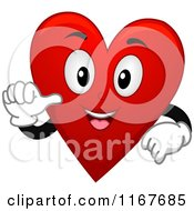 Cartoon Of A Happy Red Heart Playing Card Suit Mascot Royalty Free Vector Clipart
