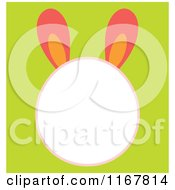 Easter Bunny Head Frame On Green