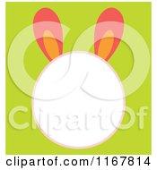 Cartoon Of An Easter Bunny Head Frame On Green Royalty Free Vector Clipart
