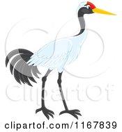 Cartoon Of A Sarus Crane Bird Royalty Free Vector Clipart