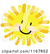 Cartoon Of A Cheerful Sun With A Smile Royalty Free Vector Clipart
