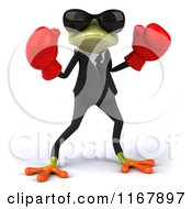 3d Formal Frog With Sunglasses And Boxing Gloves
