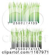 Clipart Of Green Grass Bar Codes Royalty Free Vector Illustration