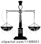 Clipart Of Black And White Scales Of Justice 2 Royalty Free Vector Illustration
