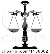 Black And White Scales Of Justice