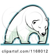 Clipart Of A Polar Bear Royalty Free Vector Illustration by Vector Tradition SM