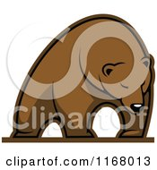 Clipart Of A Brown Bear Royalty Free Vector Illustration