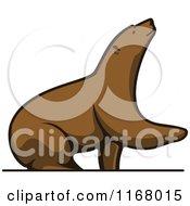 Brown Bear Lifting A Paw