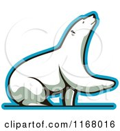 Clipart Of A Polar Bear Lifting A Paw Royalty Free Vector Illustration by Vector Tradition SM