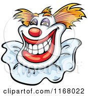 Clipart Of A Grinning Clown Royalty Free Vector Illustration