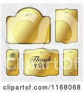 Clipart Of Golden Frames Over A Pattern Royalty Free Vector Illustration
