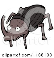 Cartoon Of A Stag Beetle Royalty Free Vector Illustration by lineartestpilot