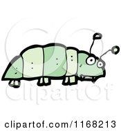 Cartoon Of A Green Caterpillar Royalty Free Vector Illustration