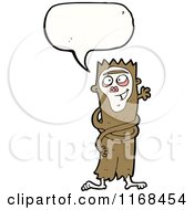 Cartoon Of A Talking Crazy Monkey Royalty Free Vector Illustration by lineartestpilot