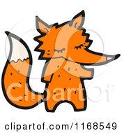 Cartoon Of A Fox Royalty Free Vector Illustration