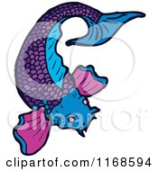 Royalty free stock illustrations of koi fishes by for Purple koi fish