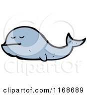 Cartoon Of A Whale Royalty Free Vector Illustration