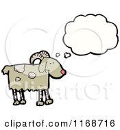 Cartoon Of A Thinking Goat Royalty Free Vector Illustration by lineartestpilot
