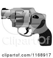 Cartoon Of A Compact Hammerless Revolver Gun Royalty Free Clipart