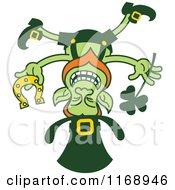 St Patricks Day Leprechaun Balanced On His Head
